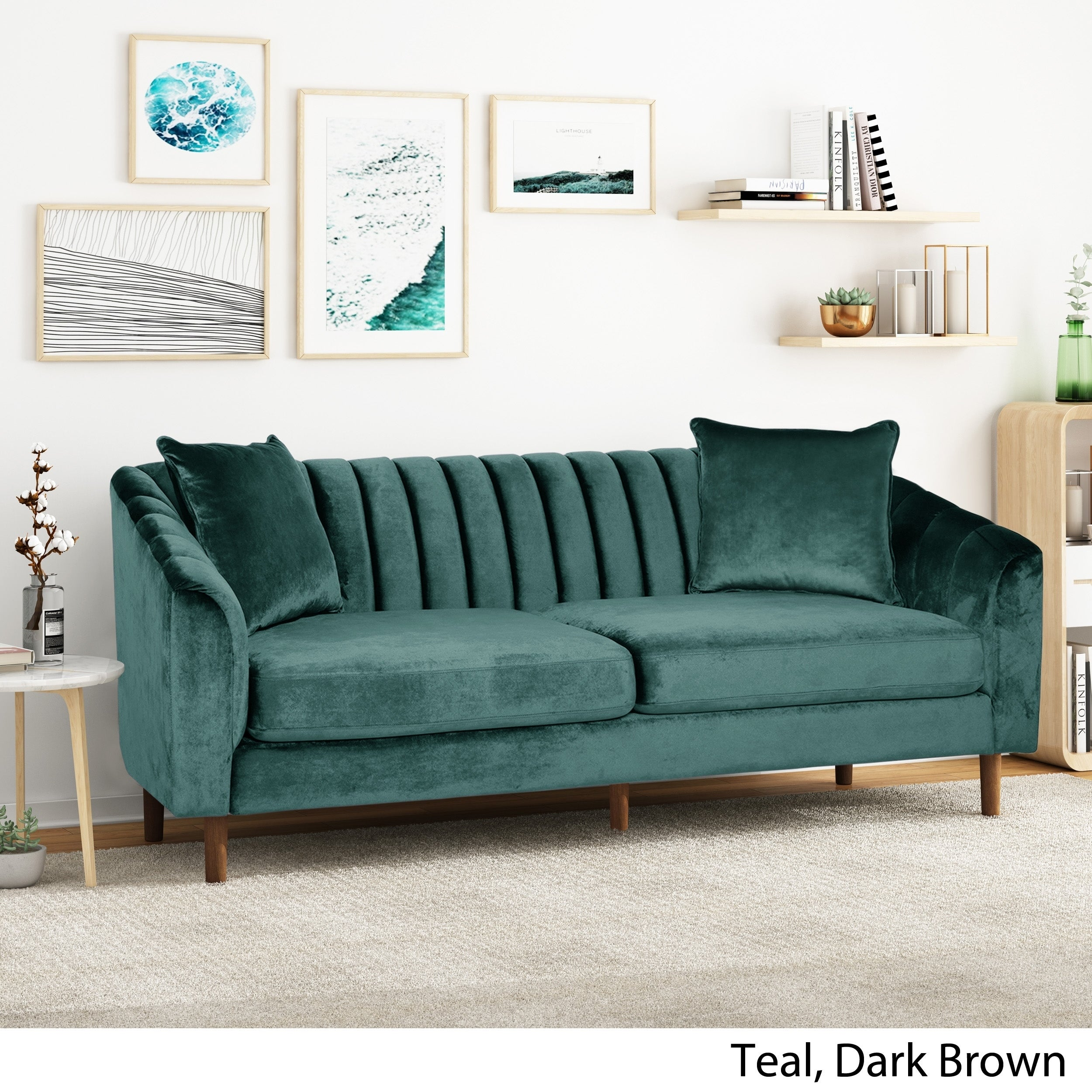 Shop Black Friday Deals On Ansonia 3 Seat Contemporary Velvet Sofa By Christopher Knight Home Overstock 28813612