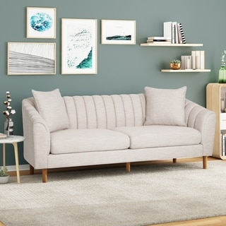 Link to Ansonia Contemporary 3 Seater Fabric Sofa by Christopher Knight Home Similar Items in Sofas & Couches