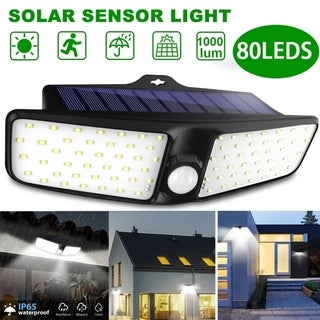 1PC 80 LED Solar Wall Lights Wireless IP65 Waterproof Security Night Light Solar Motion Sensor Light Outdoor