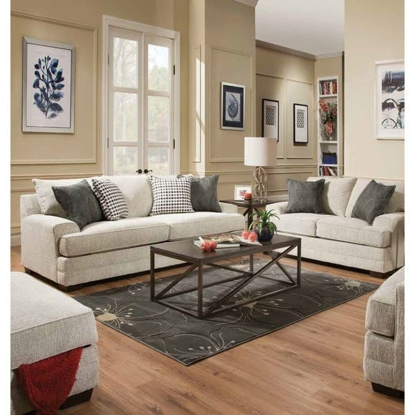 Acme Avedia Sofa With Pillows In Beige