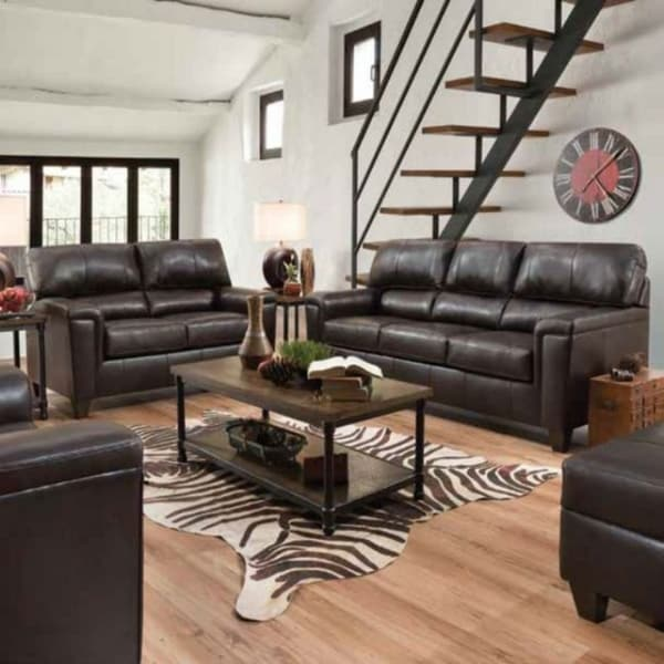 ACME Phygia Recliner in Espresso Top Grain Leather Match
