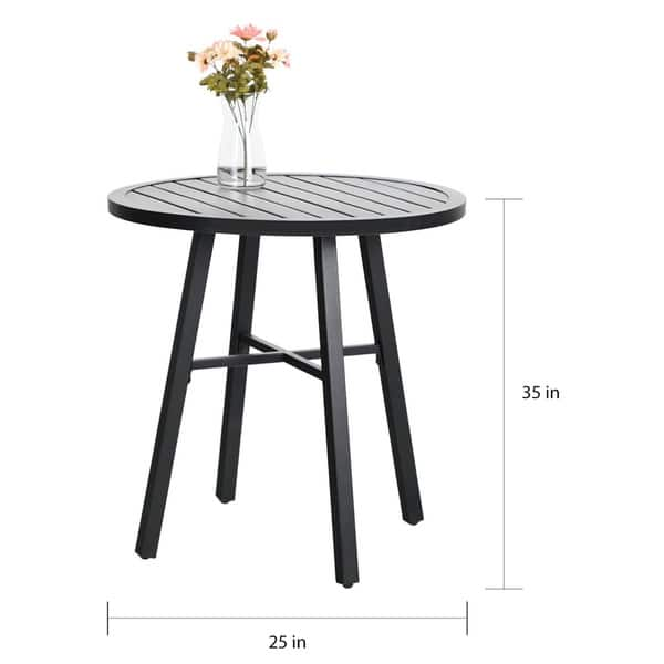 Patio Bistro Set With Round Table