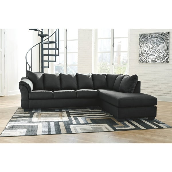 Darcy 2-Piece Sectional with Right Facing Chaise - Black