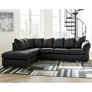 Darcy 2-Piece Sectional with Left Facing Chaise - Black