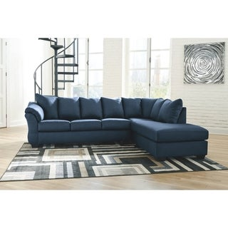 Darcy 2-Piece Sectional with Right Facing Chaise - Blue