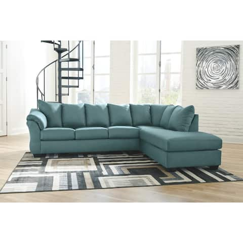 Darcy 2-Piece Sectional w/ Chaise Right Facing - Sky