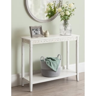 Kate and Laurel Idabelle Wood Console Table - 36x12x30