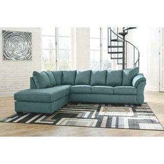 Darcy 2-Piece Sectional w/ Chaise Left Facing - Sky