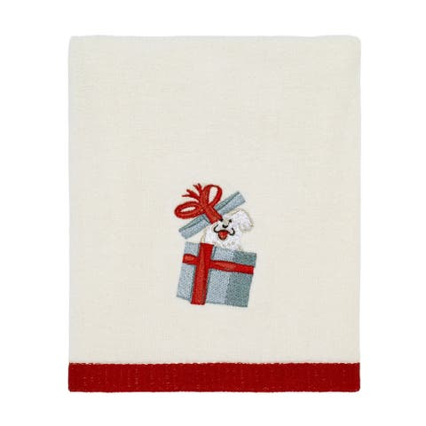 Holiday Dogs Hand Towel - N/A