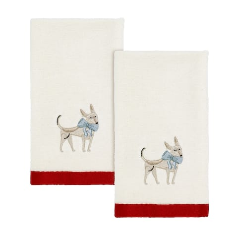 Holiday Dogs 2 Pack Fingertip Towels - N/A