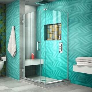 "DreamLine Unidoor Plus 34 1/2 in. W x 34 3/8 in. D x 72 in. H Frameless Hinged Shower Enclosure - 34.38"" x 34.5"""