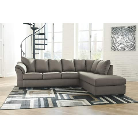 Darcy 2-Piece Sectional w/ Chaise Right Facing - Cobblestone