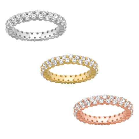 Divina Sterling Silver Cubic Zirconia Fashion Eternity Band