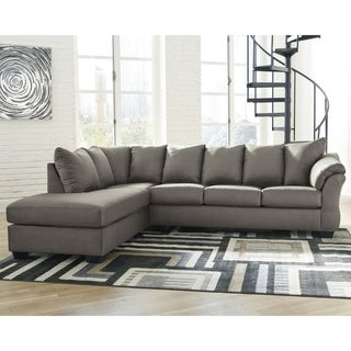 Darcy 2-Piece Sectional w/ Chaise Left Facing - Cobblestone