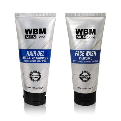 WBM Men Care Gift Set Face Wash & Hair Gel-2 Pack, 10.58 Oz