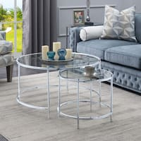 Convenience Concepts Royal Crest Nesting Round Coffee Table