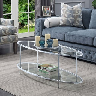 Silver Orchid Alexander Royal Crest Oval Coffee Table