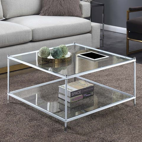 Silver Orchid Aasen Royal Crest Square Coffee Table