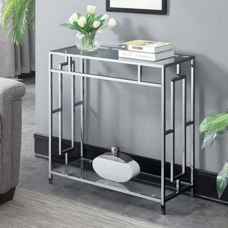 Silver Orchid Alberni Square Chrome Hall Table