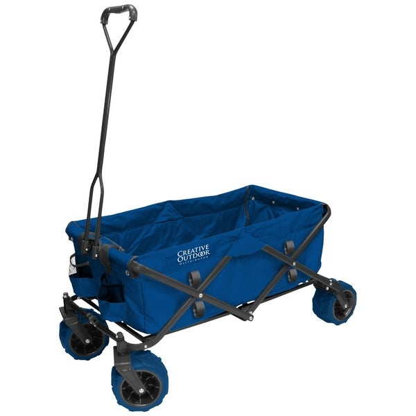 Creative Outdoor Folding Wagon Cart, Blue. Opens flyout.