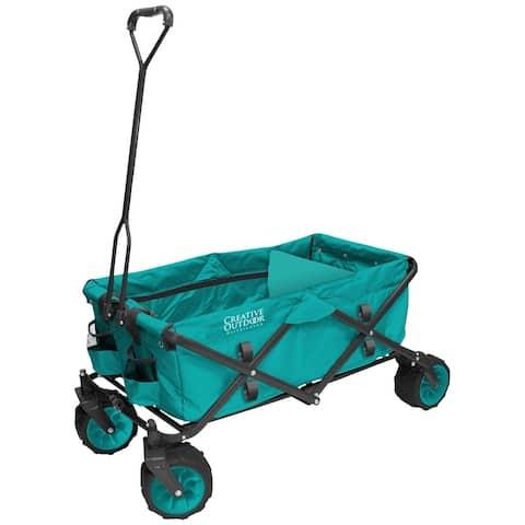 Creative Outdoor All-Terrain Folding Wagon, Teal