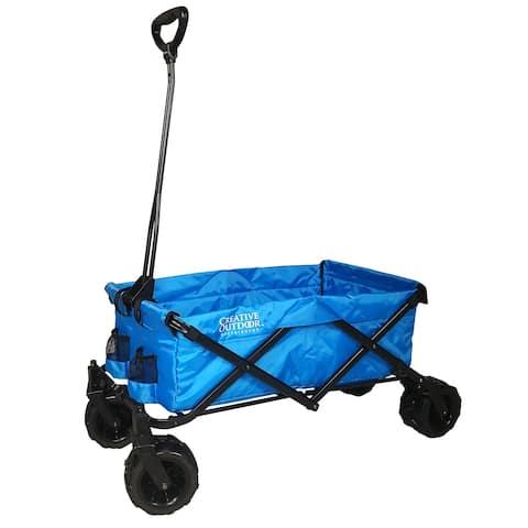 Creative Outdoor All-Terrain Folding Wagon, Blue