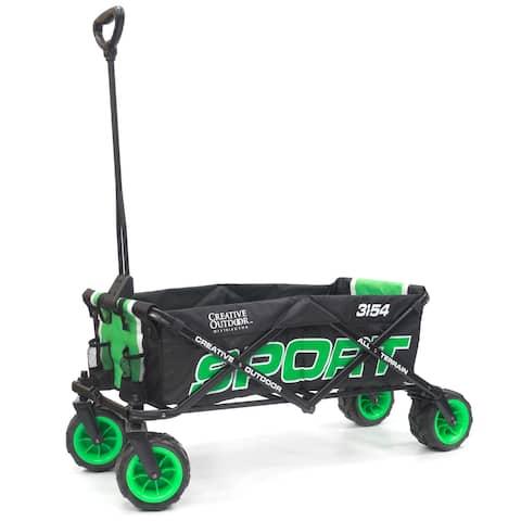 Creative Outdoor Sport All-Terrain Folding Wagon, Green