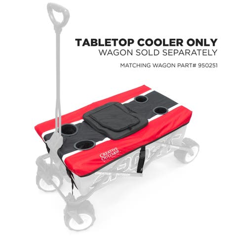 Creative Outdoor Sport Wagon Table Top Cooler, Red