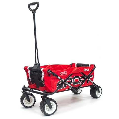 Creative Outdoor Sport All-Terrain Folding Wagon, Red