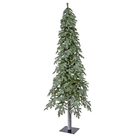 Regency Winter Frost Alpine Tree Prelit Clear Bulbs 7'