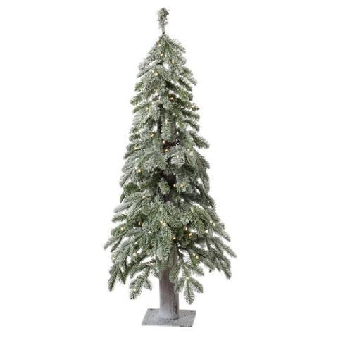 Regency Winter Frost Alpine Tree Prelit Clear Bulbs 4'