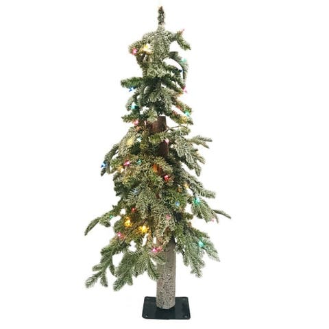 Regency Winter Frost Alpine Tree Prelit Multi Color Bulbs 3'