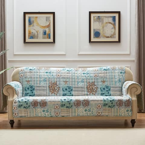 Greenland Home Fashions Key West Furniture Protector, Seafoam, Sofa