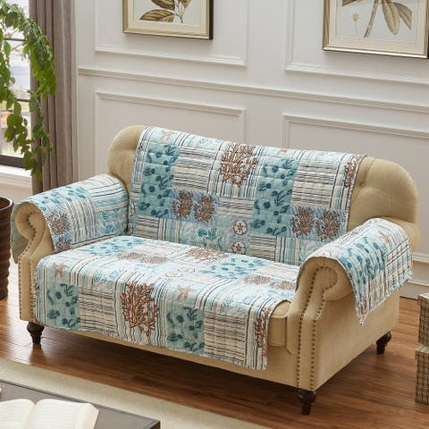 Greenland Home Key West Furniture Protector, Seafoam, Loveseat