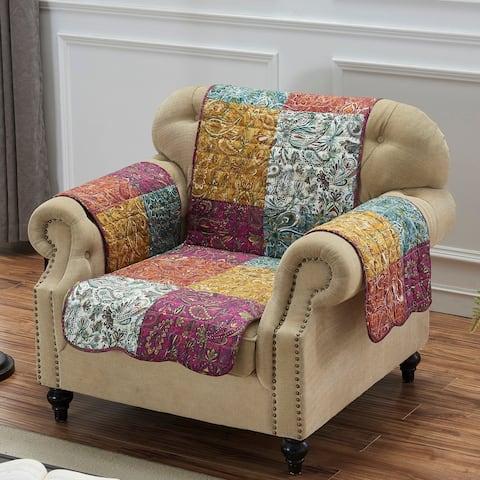 Porch & Den Merritt Paisley Armchair Protector