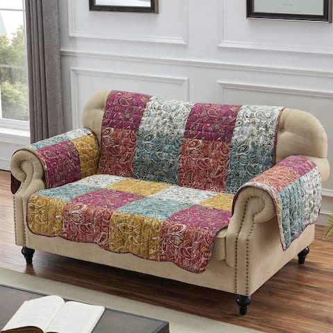 Barefoot Bungalow Paisley Slumber Furniture Protector, Spice, Loveseat