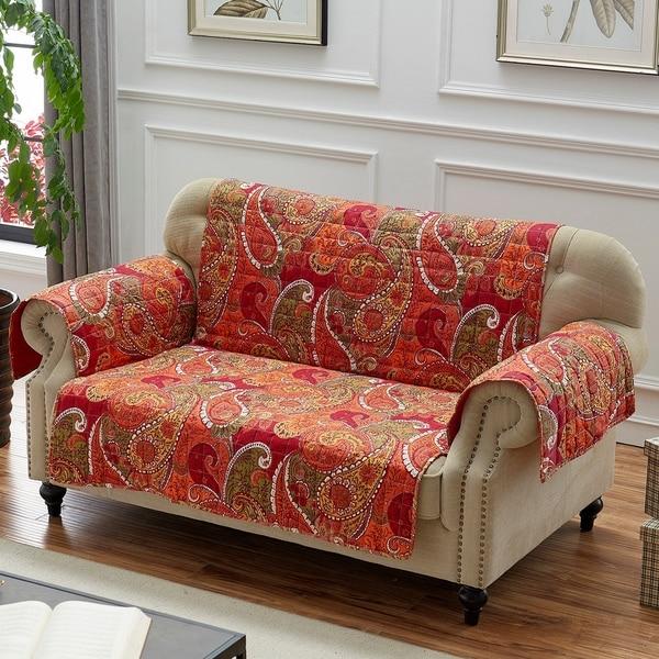 Greenland Home Fashions Tivoli Furniture Protector, Cinnamon, Loveseat