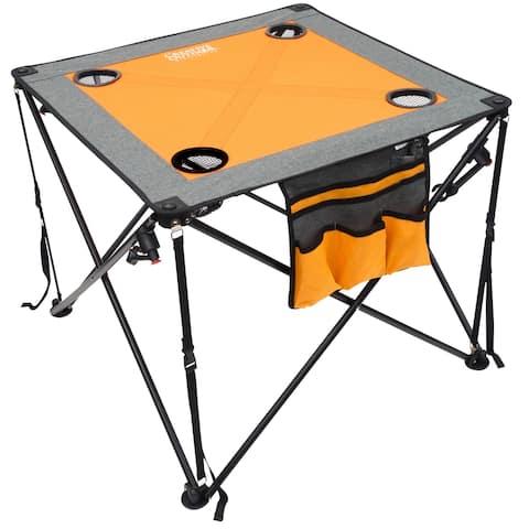 Creative Outdoor Folding Wine Table, Orange/Gray