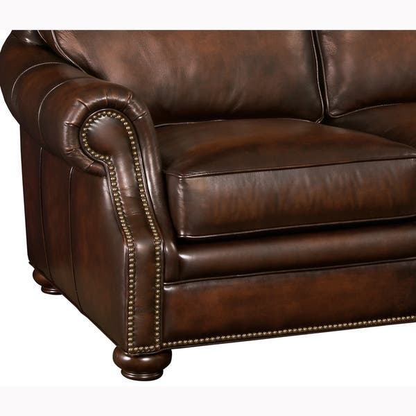 Astounding Shop Foster Brown Hand Rubbed Top Grain Leather Sofa And Bralicious Painted Fabric Chair Ideas Braliciousco
