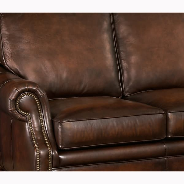 Hand Rubbed Top Grain Leather Sofa