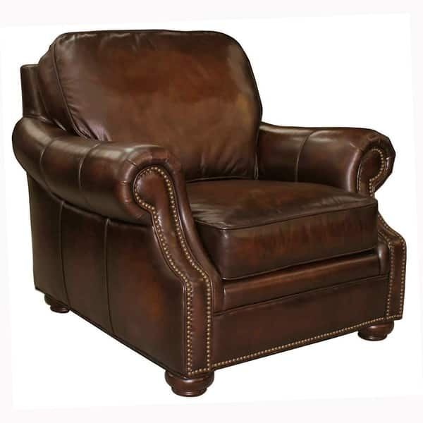 Magnificent Shop Foster Brown Hand Rubbed Top Grain Leather Sofa And Bralicious Painted Fabric Chair Ideas Braliciousco