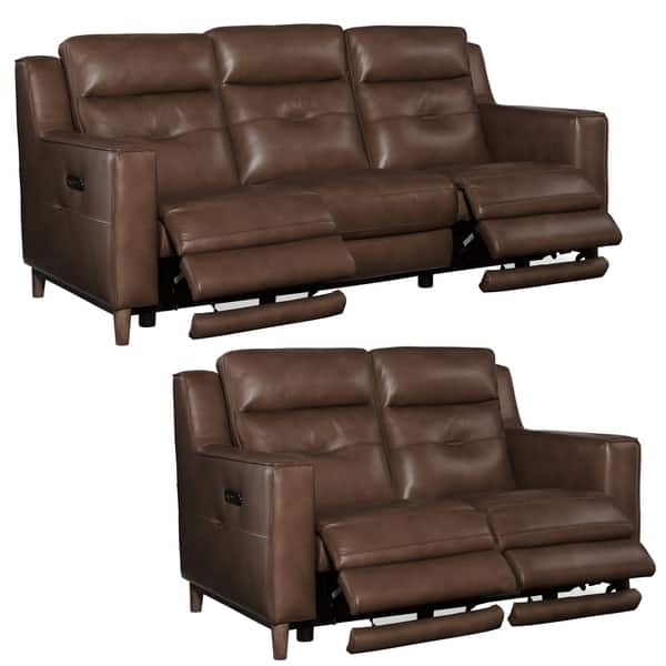 Groovy Shop Astoria Brown Top Grain Leather Power Reclining Sofa Bralicious Painted Fabric Chair Ideas Braliciousco