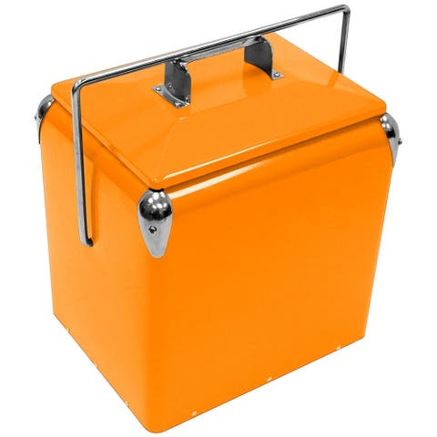 Creative Outdoor Retro 13L Cooler, Orange