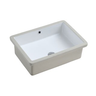 Isla Undermount Ceramic Basin Sink, Glossy White