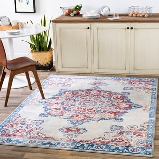 "Prue Navy Persian Medallion Area Rug - 8'10"" x 12'3"""
