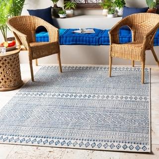 Cintia Indoor/ Outdoor Bohemian Stripe Area Rug