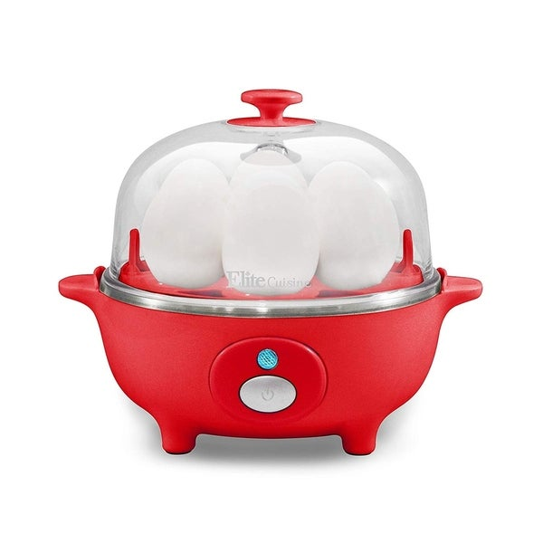 Elite EGC-007R Automatic Easy 7-Egg Cooker, Red