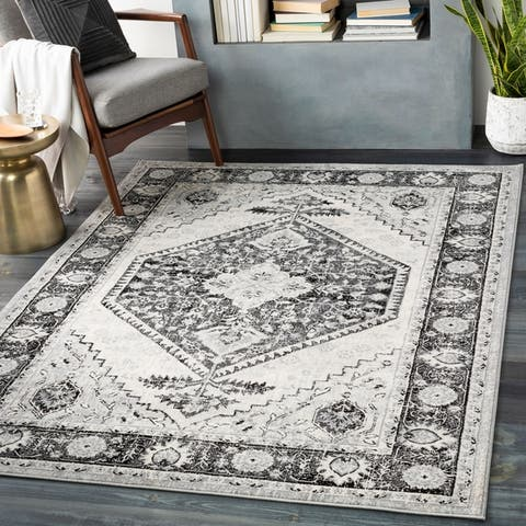 The Curated Nomad Lexing Vintage Persian Medallion Area Rug