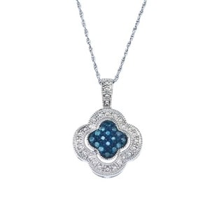 Blue Diamond Clover Pendant