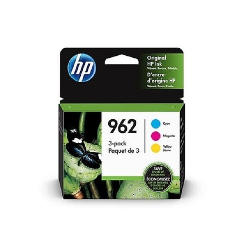 HP 962 CMY Color Ink Cartridges, 3 Pack, 3YP00AN - Cyan/Yellow/Magenta